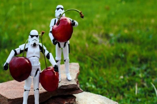 Clone Troopers robando cerezas
