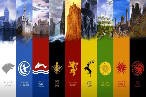 "Emblemas de ""Juego de Tronos"""