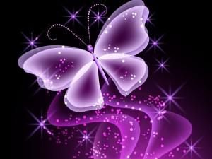 Postal: Mariposa resplandeciente