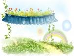 Arcoíris un día de primavera