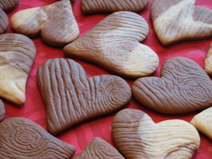 Postal: Galletas con forma de corazón