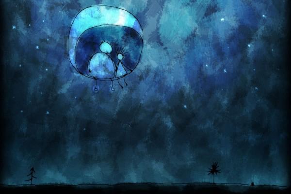 En la luna con papá