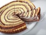 Tarta cebra de chocolate y queso