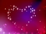 Corazón de destellos
