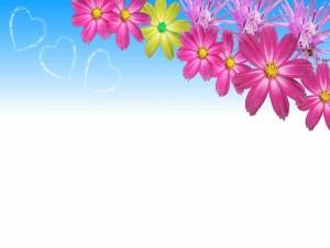 Flores y corazones