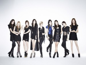 "Las chicas del grupo ""Girls' Generation"""
