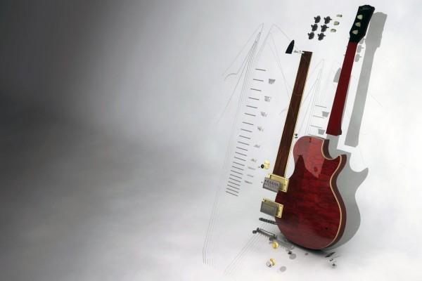 Las piezas de la guitarra