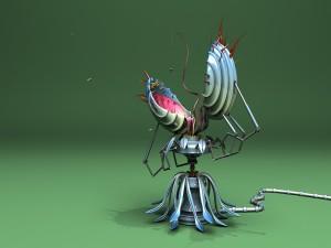 Postal: Planta carnívora robótica