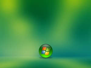 Windows en fondo verde