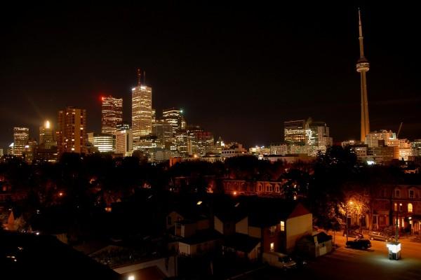 Noche en la ciudad de Toronto