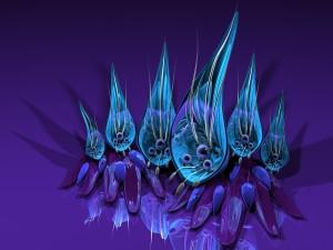 Flores de fantasía en 3D