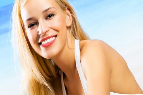 La sonrisa de una mujer bella