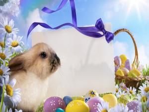 """Postal para el """"Día de Pascua"""""""