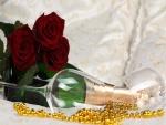 Flores, copas y champán para una celebración