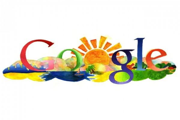 Nombre de Google pintado a mano y con detalles muy creativos
