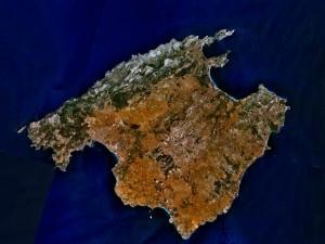 Postal: Imagen satélite de Mallorca