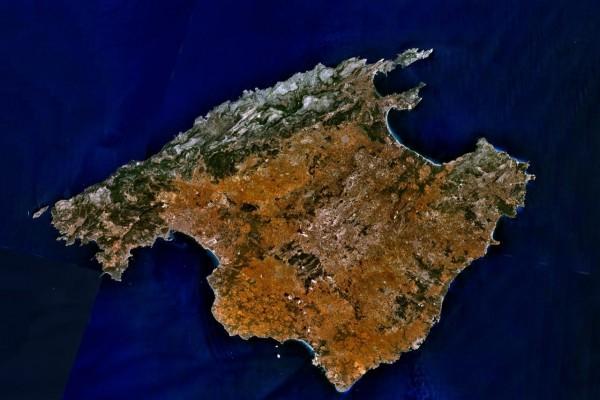 Imagen satélite de Mallorca