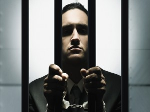 Hombre encarcelado