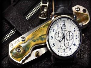Postal: Reloj y navaja