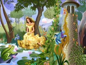 Postal: Dos princesas en busca del amor