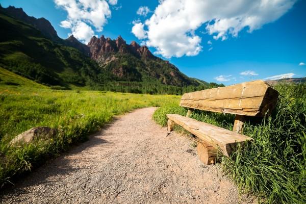Buen lugar para descansar en el camino