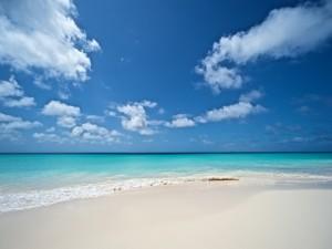 Postal: Calma en la orilla del mar
