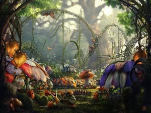 La diversión de los insectos en el bosque