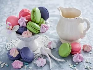 Macarons de tres colores