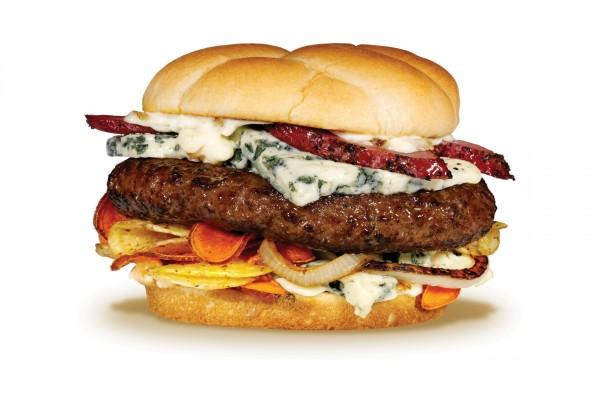 Hamburguesa con queso azul