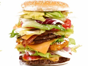 Una hamburguesa difícil de comer