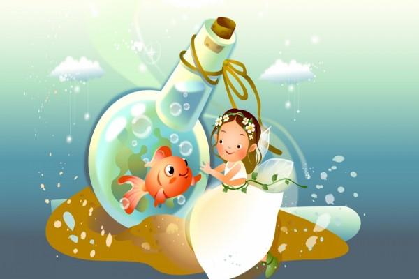 Hada y su amigo pez