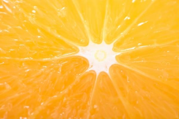 El centro de una naranja