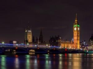 Postal: Noche en Londres