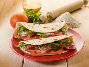 Postal: Tortillas de maíz mediterráneas