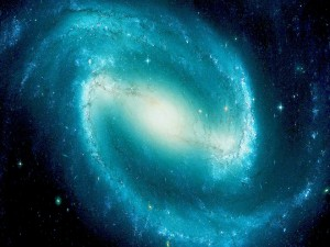 Postal: Galaxia con forma espiral