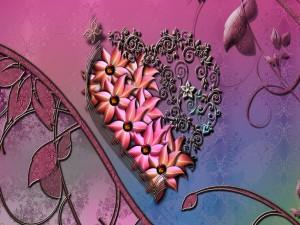 Adorno con forma de corazón