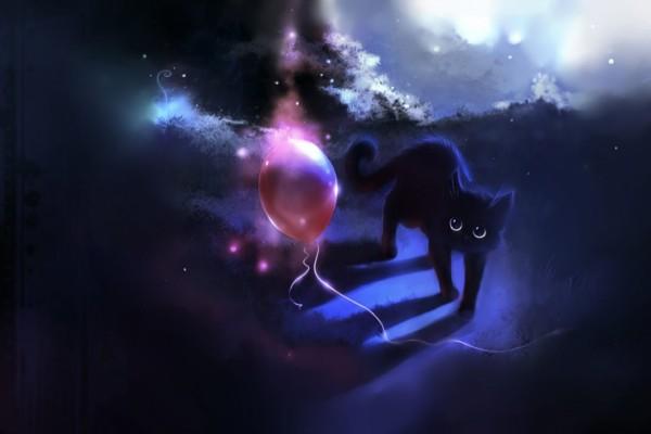 Gato mirando el globo