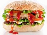 Hamburguesa doble con ketchup
