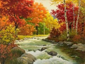 El río en otoño