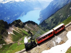 El ferrocarril para turistas de Brienz-Rothorn (Suiza)