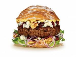 Postal: Hamburguesa en pan de pueblo