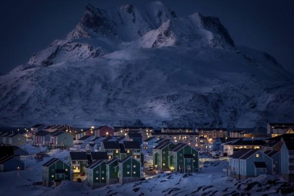 Noche de invierno en la ciudad