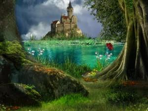 Castillo a la salida del bosque