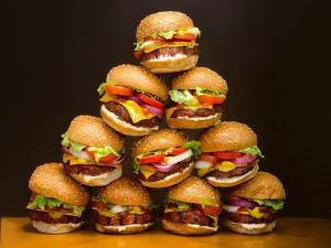Torre de hamburguesas