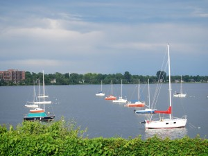 Postal: Club de Kayak, en la ciudad de Pointe-Claire (Quebec, Canadá)