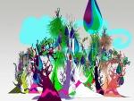Árboles de un mundo mágico en colores