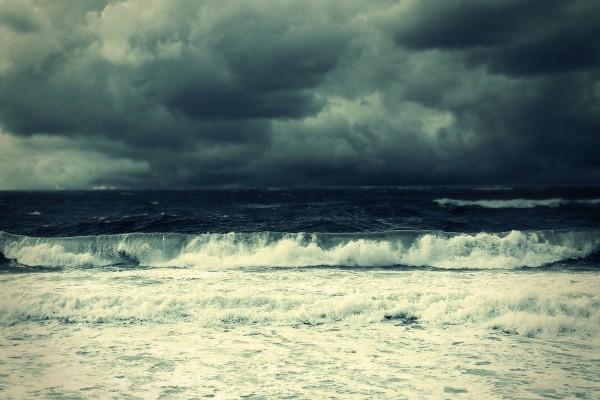 La olas llegando a la playa
