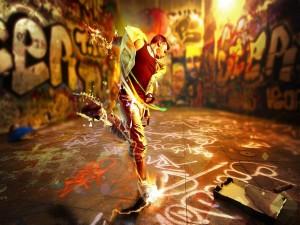 Postal: Danza en el metro
