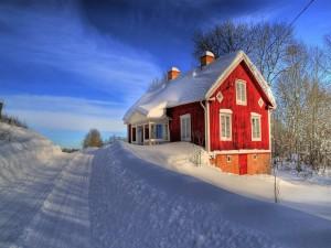 Postal: Casa en la nieve