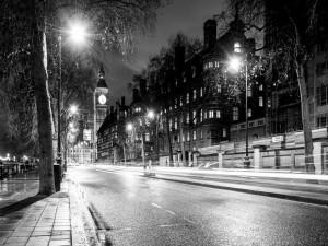 El Big Ben a la noche